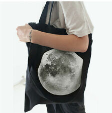 2014 Unisex Planet Printing Canvas Tote Bags Shoulder Bags Brief Shopping Bags