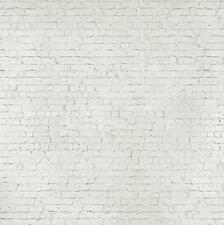 1 WALL GIANT EASY-HANG WALLPAPER MURAL LOFT WHITE BRICK EFFECT 3.15m x 2.32m