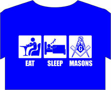 T-Shirt Mens S-5XL Masons Masonic Freemasons Lodge book guild orders compass tee