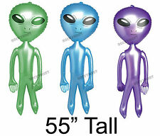 """Alien Inflatable Figure 55"""" Kids Blow Up Toy Outer Space Stars Moon Mars Sky UFO"""