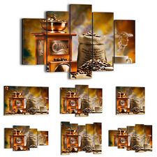 FRAMED Canvas Print Picture 48 Shapes Wall Art coffee beans cup kitchen 2592 an