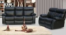 Modern Leather Milano 3 +2 Seater Recliner Sofa with Cupholder