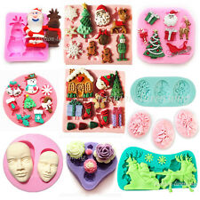 Various Xmas Styles Silicone Cake Decorating Mould Sugarcraft Fondant Icing Tool