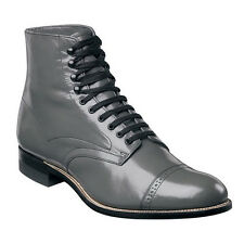 Stacy Adams MADISON Mens Boot Steel Gray Leather Lace Up Cap Toe Ankle Boots