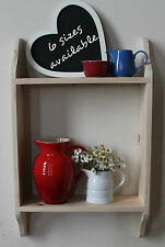 pine shelf kitchen shelving bookcase shabby chic finish