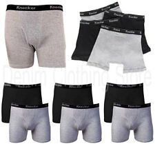 2 4 6 Lot  Men Knocker  Boxer Briefs Solid  Black Gray Underwear  Size S-3XL