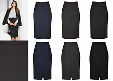 Biz Corporate Ladies Waisted Pencil Skirt 20116 | Cool Stretch, Office, Womens