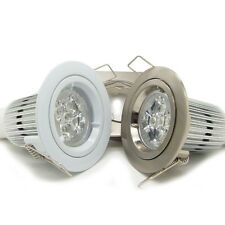 50x 10W GU10 Recessed LED Down light Kit ceiling spot light lamp white & nickel