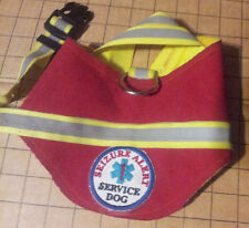 SERVICE DOG LIGHT WEIGHT VEST W/ REFLECTOR  W/ OPTIONAL EMBROIDERY