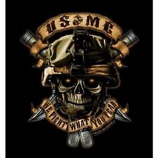 Mens T-Shirt - USMC We Fight What You Fear, Black by Black Ink