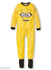 Despicable Me Minion Footed Pajamas Blanket Sleeper Footie Pj Costume
