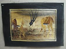 AFRICAN BANANA LEAF ART - KENYA - Elephant Zebra Lion Springbok SELECT ONE