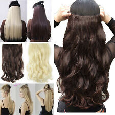 Long 100% Natural Hair Extensions Clip in on Hair Extension Half Full Head ss72