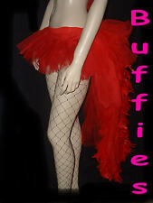 Tutu Moulin Rouge Feather Bustle Skirt Showgirl Burlesque 6-16 Black Red White