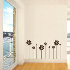 SET OF FLOWERS WITH STEMS WALL ART STICKER DECAL huge removable vinyl uk FL36