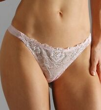 A0276T Jezebel NEW Women's Tiara Silver Embroidered Lace Low Rise Thong 51345 PR