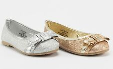 Girls Toddlers Youth Mary jane Party Dress Flat Shoes Silver Gold glitter
