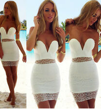 Amazing strapless WHITE lace SANTORINI dress from PASSION FUSION  PARTY