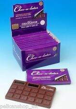 SCENTED CHOCOLATE BAR LOVER REAL CALCULATOR NOVELTY MATHS GIFT STOCKING FILLER