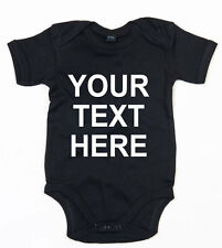 YOUR TEXT HERE CUSTOM PRINT CUSTOMIZABLE CUTE GIRLS BOYS BABY GROW VEST