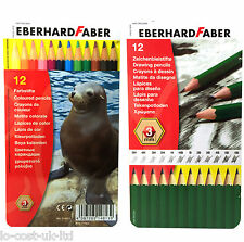 EBERHARD FABER 12 ARTISTS DRAWING GRAPHITE GRADED & COLOURED PENCIL TIN SETS