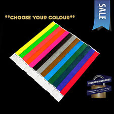 300 x Tyvek, Party, Event, ID Wristbands *Choose Your Colour* *SALE* 13 COLOURS