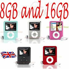"8GB 16GB Slim Mp3,4,5 Music Player 1.8"" LCD Screen FM Radio Video Games Movie uk"