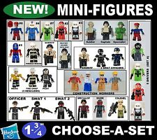 MINI FIG Fire Police Army Minifig Kreo Kreon Humanoid Party Favor Kre-o