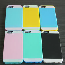 Hybrid Dual Layered TPU IC Card in Pocket Skin Case Cover For iPhone 6 5G 5C
