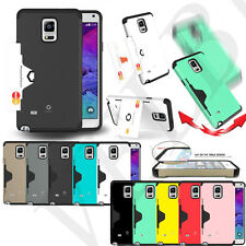 ShockProof Armor Wallet card Case cover for Galaxy S4 S5 Note 2 3-Dual Layer