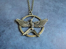 New Edition Hunger Games 3 Bronze Katniss Mockingjay Pendant Necklace Replica