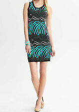 NWT Banana Republic $140 Issa Collection Zebra Printed Sweater Dress PXS,PS,S,PL