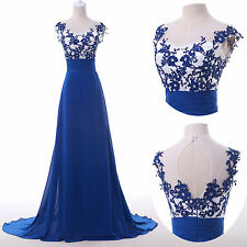 2014 Applique Lady Formal Bridesmaid Gown Evening Prom Long Party Cocktail Dress