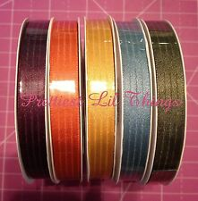 """Stampin Up! 3/8"""" Satin Stitched Ribbon Trim Embellishment Choose 1 In Colors NEW"""