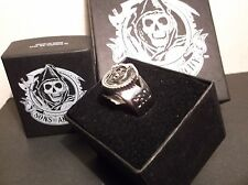 LICENSED SOA SONS OF ANARCHY REAPER RING LOGO AUTHENTIC SAMCRO with GIFT BOX