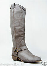 STONE Women's Cowboy Round Toe Riding Knee High Boot Size 5.5 and 6.5