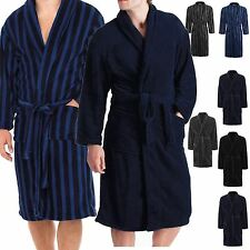 MENS POLAR FLEECE SOFT WINTER WARM WRAP BATH ROBE DRESSING GOWN SUPER ROBE M-XL