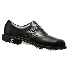 NEW FootJoy Men's Icon 52054 Golf Shoes - Black Croc Mfr. Close-out!