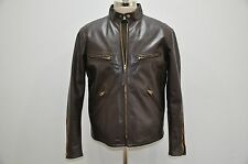 Ralph Lauren RRL Wilkins Brown Leather Bomber Biker Jacket