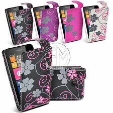 FLOWER LEATHER CASE FLIP CASE COVER POUCH FOR NOKIA LUMIA 630