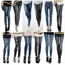 Women Denim Jeans Sexy Skinny Leggings Jeggings Stretch Pants Trousers