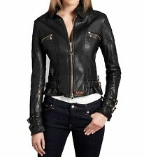 Designer Awesome Quilted Soft Lambskin Leather Biker Jacket For Women EHS W- 02