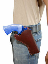 "NEW Barsony Burgundy Leather Cross Draw Gun Holster for Ruger 4"" Revolvers"