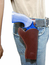 "NEW Barsony Burgundy Leather 49-er Style Holster for Dan Wesson 4"" Revolvers"