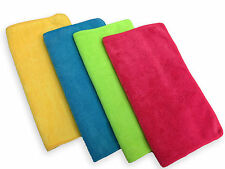 """24 Microfiber 14""""x14"""" Cleaning Cloths Detailing Polishing Towels Rags 300GSM"""