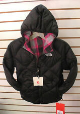 THE NORTH FACE GIRLS REVERSIBLE DOWN MOONDOGGY JACKET - BLACK- XS ,XL-NEW