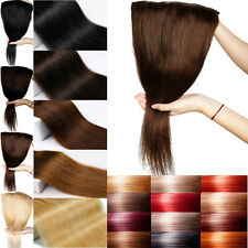 Real Good One Piece Clip In Remy Human Hair Extension Silky Straight BLACKFRIDAY
