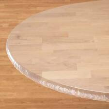 Clear Vinyl Elasticized Table Cover [Wipes Clean]