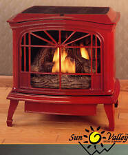 Sun Valley Cast Iron Gas Stove Heater Townsend II Fixed Front