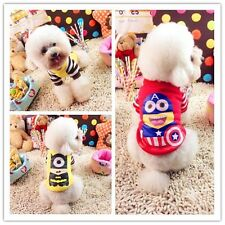 Cute Minions Dog Pet Puppy Clothes Coat Apparel Halloween Christmas Costume SML